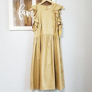 NWT Cremieux Midi Ruffle Sleeve dress size 10